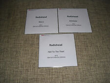 RADIOHEAD - KID A + AMNESIAC + HAIL TO THE THIEF - 3xCD COLLECTORS Advance PROMO