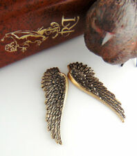 ANTIQUE BRASS (1 Pair) ANGEL WINGS Stamping ~ Jewelry Oxidized Findings (C-702)