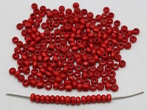 1000 Red 4mm Round Wood Beads~Wooden Mini Spacer beads