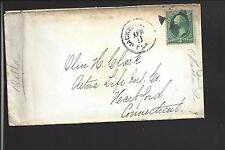 JACKSONVILLE,FLORIDA COVER,3CT BANKNOTE, FANCY CANCEL.