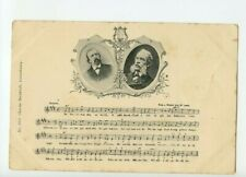 Vintage Postcard Luxembourg Song card with notes and composers