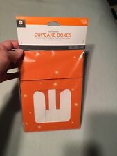 Cupcake Boxes 3 Count Orange Witch New Halloween Holiday
