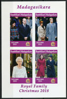 Madagascar 2019 MNH Christmas Queen Elizabeth William 4v IMPF M/S Royalty Stamps