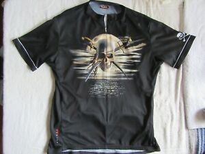 Primal Wear Pirates Cycling Jersey Mens Short Sleeve Size XL