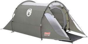 Coleman Tent Coastline 2 Plus 2 Man Camping Trekking Waterproof Tunnel UK Stock