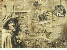 Rice Paper for Decoupage Decopatch Scrapbook Craft Sheet Old Time Christmas