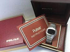 1975 Pulsar Military 406 P4 Executive LED Digital Time Computer Watch uhr MOT