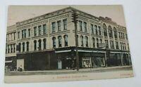 Vintage Fournet Block Photo Crookston MN 1909 Rare Antique Postcard Collectible