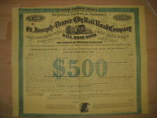 St. Joseph and Denver City Railroad Company  1870