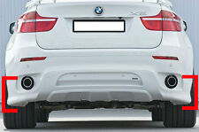SPOILER POSTERIORE BMW X6 E71 08-14 DIFFUSORE SOTTO PARAURTI ESTRATTORE 3 PEZZI