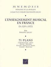 Fac-similé - Philippe Lescat - L'Enseignement Musical en France