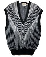 London Fog Mens Vintage Size 2XL Golfing Sweater Vest Made In USA Black/Gray