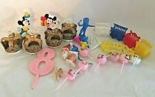 Vintage Lot of Cake Toppers and Candle Holders Birthday Graduation Baby Shower