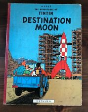 Herge The Adventures of TINTIN Destination Moon Methuen Hardcover 1959 First UK