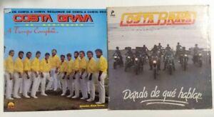 2 Costa Brava Records Dando De Que Hablar & Tiempo LP Latin Merengue Profono PR
