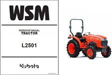 Kubota L2501 Tractor WSM Service Repair Workshop Manual CD  -- L 2501