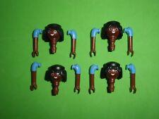 Playmobil CABEZAS,TÈTES, NORDISTA, SUDISTA, Playmobil têtes noires et les bras