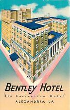 Alexandria Louisiana~Bentley Hotel on Corner~1963 Mod Art Postcard