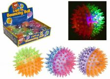 Wizz Toys 7.5cm / 3'' Light Up Two Colour Spikey Bouncing Ball - Box 12