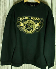 KARL KANI Vintage Spell Out Sweatshirt Men's XL Gold Embroidery Logo 90s Hip Hop