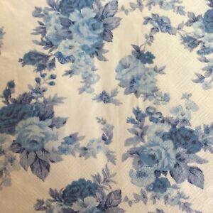 paper napkins decoupage x 2 blue Flowers 33cm