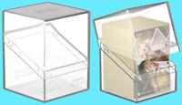 ULTIMATE GUARD BOULDER CLEAR Standard Size DECK CASE 100+ Card Storage Box ccg
