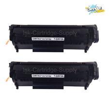 2PK Q2612A 12A Black Toner Cartridge for HP LaserJet 1022nw 3015 3020 3030