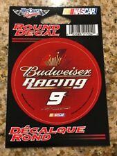 "KASEY KAHNE #9 BUDWEISER RACING NASCAR CUP SERIES 3"" ROUND DECAL STICKER"