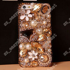 Rhinestones Cases For iPhone Big Stone 3D Bling Crystal Cover For Samsung Galaxy