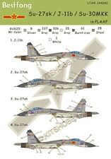 Bestfong Decal 1/144 Sukhoi Su-27/J-11/Su-30 Chinese Airforce (PLAAF) decals
