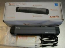 Ambir TravelScan Pro 600ix Simplex Document Scanner ID PS600IX-AS