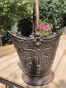 Arts And Crafts  Copper Coal Bucket