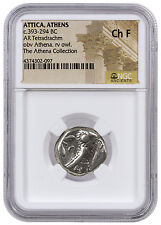 Greek City-State Athens Silver Tetradrachm Athena Collection NGC Ch F SKU42586