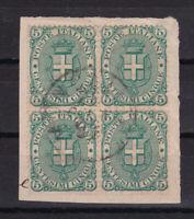 ITALIA REGNO frammento 1899 con quartina 5 c. verde Sassone n°59 cv 175€