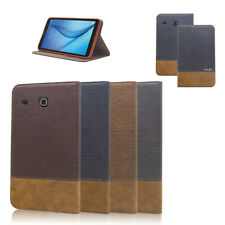 Folio Flip Stand Leather Case Cover For Samsung Galaxy Tab E 9.6 / Tab E 8.0