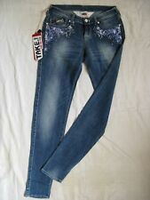 TAKE TWO Courtney Blue Jeans Stretch Röhre W27/L32 x-low waist slim fit tube