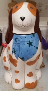 "Cookie Jar Dog Henriksen hand painted Kitchen/Home collection 15"" tall."