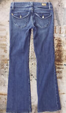 Womens Paige Premium Denim Pico Stretch Flap Pocket Flare Bootcut Jeans 27