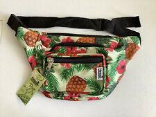 Hawaii Spirit 3 Zipper One Size Fanny Pack Pineapple Beige Waist Travel Bag