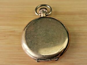 Star 10 Year Rolled Gold Full Hunter Pocket Watch Case for Repair