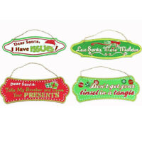 Christmas Xmas Wooden Wall Door Hanging Plaque Décor Saying Funny Humorous