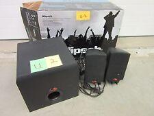 KLIPSCH PROMEDIA 2.1 SPEAKER SUBWOOFER COMPUTER DESKTOP MUSIC MOVIE USED