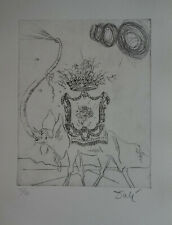 Limited edition etching, Surrealism Elephant, signed Salvador Dali w DOCS