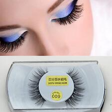 1 Pair Black 100% Real Mink Hair Thick Long Natural Eye Lashes False eyelashes