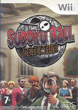 SUDOKU BALL DETECTIVE for Nintendo Wii - with box & manual - PAL