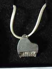 """Piano TG2 English Pewter On 18"""" White Cord Necklace"""
