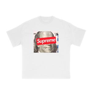 NEW Supreme 100$ Bill Streetwear T-Shirt S/M/L/XL/2XL