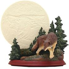 Moonbeam Magic Wolf Collector's Plate Bradford Exchange #58674 Light Up 7.5""