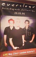 "40x60"" Huge Subway Poster~Everclear 1995 Sparkle Fade Heartspark Dollarsign~Live"