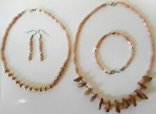 Navajo Cats Eye Chokers Bracelet Earring Set by R Manygoats Medicine Man blessed